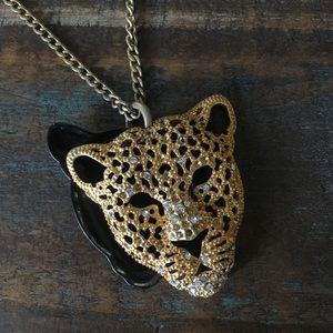 Gold Leopard Statement Necklace